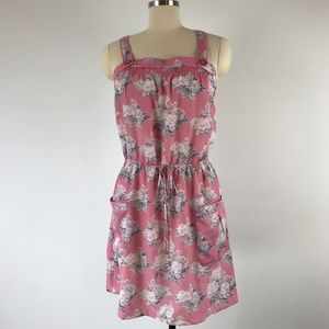 American Eagle Pink Floral Dress with Pockets